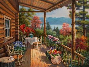 Log Cabin by the Lake Wallpaper__yvt2